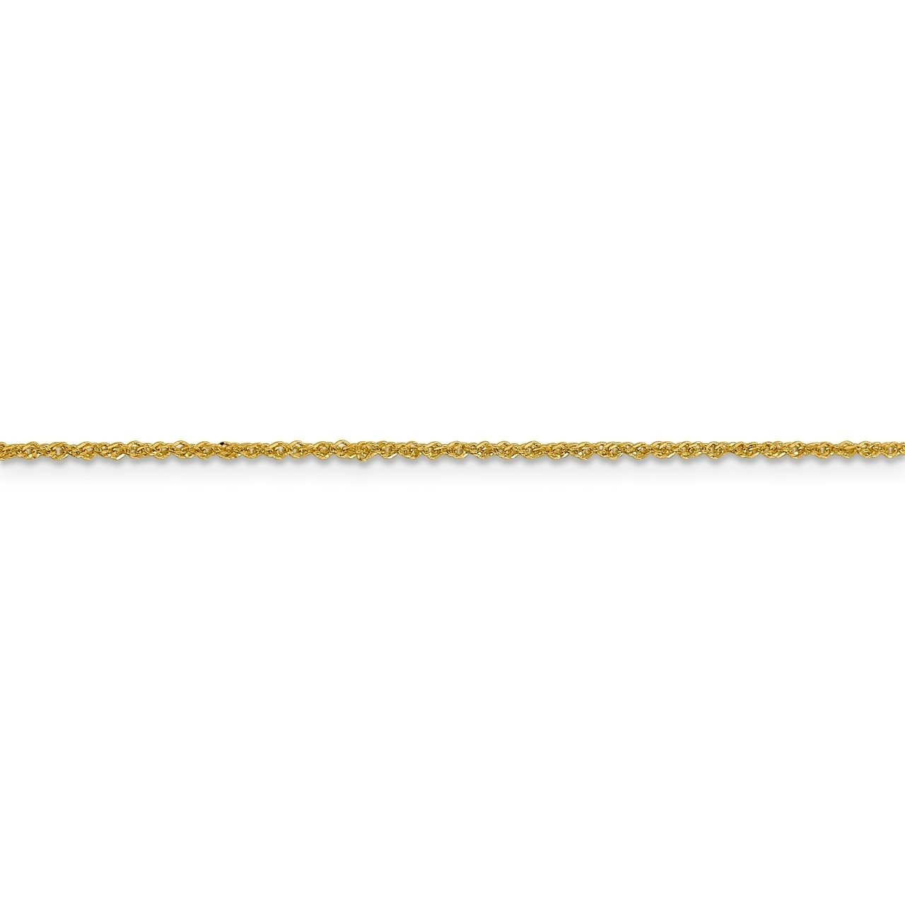 Lex /& Lu Leslies 14k Yellow Gold Sparkle Singapore Chain Necklace LAL92057