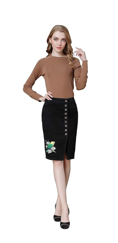 22e35fee2e Black Jean Pencil Skirt – DACC