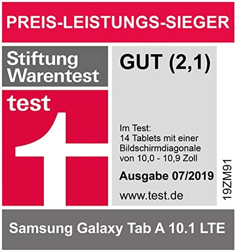 "Samsung Galaxy Tab A (2019,4G/LTE) SM-T515 32GB 10.1"" Factory Unlocked Wi-Fi + 4G/LTE Tablet - International Version, No Warranty (Black)"