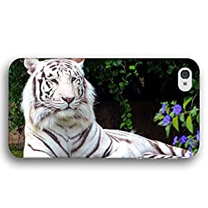 White Bengal Tiger Cat Lying Down For Iphone 6 4.7 Inch Case Cover Slim Phone Case