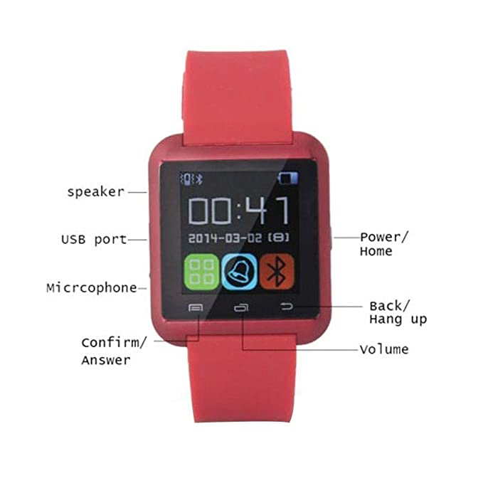 Amazon.com: NOKKOO Multi-functional Smartwatch U8 Bluetooth ...