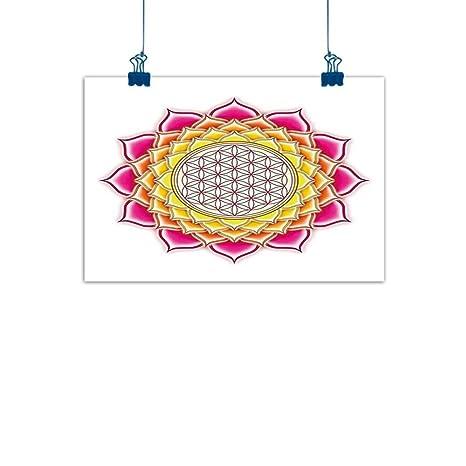 Amazoncom Decorative Art Print Lotusflower Of Life Sacred