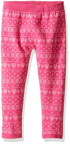 Dream Star Little Girls' Lurex Fleece Lined Legging, Fuchsia Purple/Wild Orchid, One Size (4-6x)