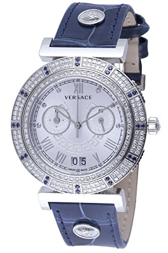 Versace-Unisex-VA9090013-Vanity-Chrono-Analog-Display-Swiss-Quartz-Blue-Watch