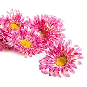 Factory Direct Craft Package of 10 Bright Large Fuchsia Artificial Daisy Heads for Floral Arranging and Crafting 83