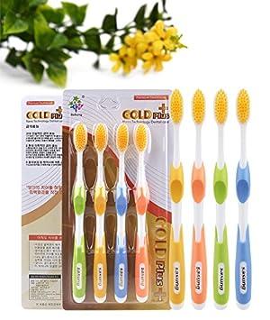 CWAIXX Cepillo de dientes de cerdas suaves_16 Gramos de diente de oro cepillo cepillo de dientes