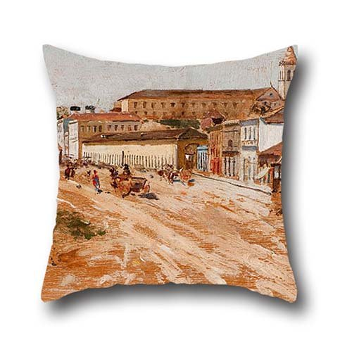 Pillowcase 16 X 16 Inch / 40 By 40 Cm(double Sides) Nice Choice For Sofa,floor,saloon,monther,living Room,birthday Oil Painting Antonio Ferrigno - Rua 25 De (Baby Blocks Pillowcase)