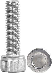 2pcs M6-1 x 120mm Lengthen Hex Socket Head Cap Screws,18-8 Stainless Steel Bolts, Full Thread