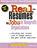 img - for Real-Resumes for Jobs in Nonprofit Organizations book / textbook / text book