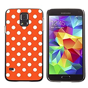 Graphic4You Polka Dots Pattern Design Hard Case Cover for Samsung Galaxy S5 (Orange)