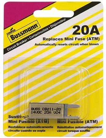 Bussmann 20 Amp Type-I ATM Mini Circuit Breaker BP//CB211-20-RP