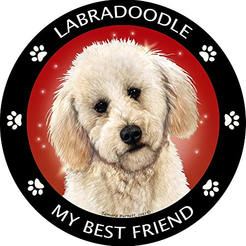 Yellow Labradoodle My Best Friend Magnet (Sea Dog Costume)