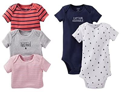 Carter's Baby Boys' 5 Pack Bodysuits (Baby) - Navy - 3 Months