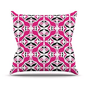 Kess InHouse Miranda Mol Think Pink Outdoor Throw Pillow, 26 by 26-Inch