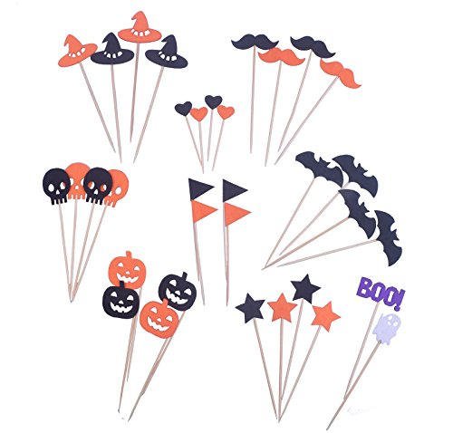 Smylls Halloween Picks Cupcake Topper 10 Set Different Toothpick Halloween Party Decorations (Cheap Halloween Appetizers)