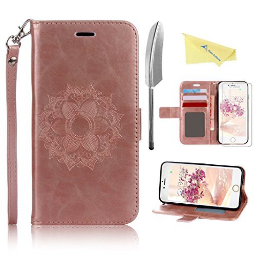 iphone-7-plus-case-cover-rosa-schleife-pu-leather-mandala-flower-pattern-embossed-magnetic-flip-wall