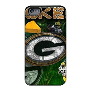 Scratch Protection Hard Phone Case For Apple Iphone 6 Plus (hZJ1848bQdh) Unique Design Nice Green Bay Packers Skin