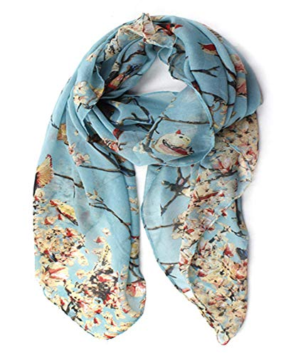 - Woogwin Women's Cotton Scarves Lady Light Soft Fashion Solid Scarf Wrap Shawl (One Size, Z-Bird Lightblue)
