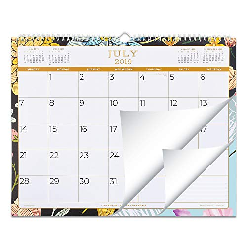 2019-2020 Academic Wall Calendar or Desk Calendar: Juniper Paper Design Calendars for July 2019 to June 2020 Year - 12