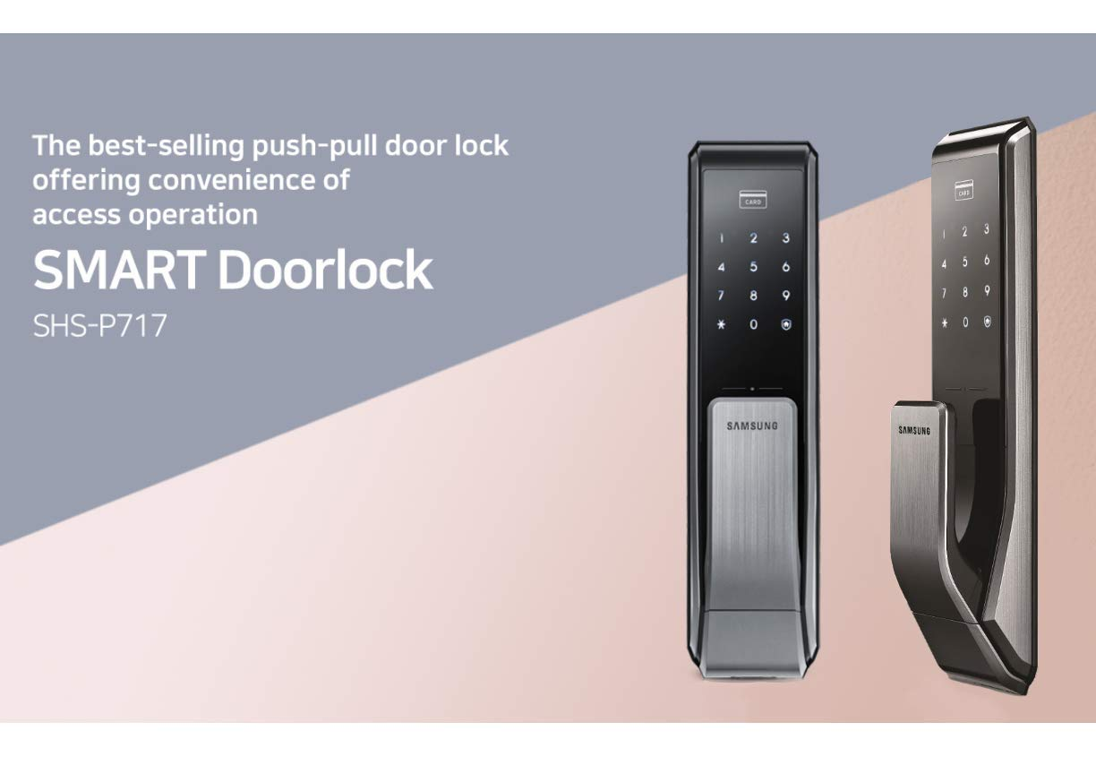 Samsung Shs P717 Lmk Push Pull Touchscreen Digital Door Lock Here Is An Electronic Code Which Can Be Used As A And Rfid Entry Small Mortise Aml 220 Camera Photo
