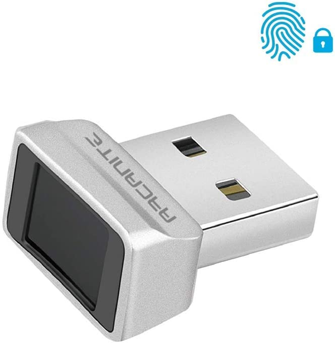 ARCANITE USB Fingerprint Reader for Windows 10 Hello, 0.05s 360-Degree Sensor Security Device, AKFSD-07
