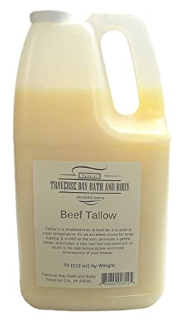 Beef Tallow Soap Making Supplies. 7 Pound Gallon.