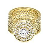 HongBoom Hot Hip Hop Rings 18K Gold Plated CZ CRYSTAL Fully Iced-Out Camera Ring (Gold/US size 11)