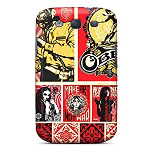 Scratch Resistant Hard Cell-phone Cases For Samsung Galaxy S3 With Provide Private Custom Lifelike Metallica Pattern CharlesPoirier