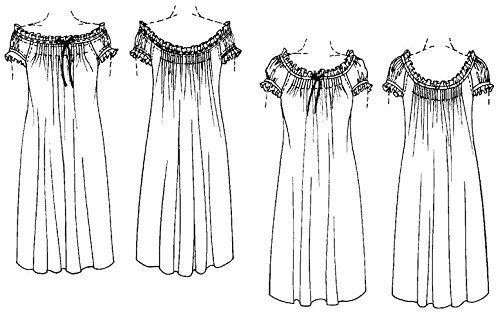 a9075a2c78 Amazon.com  Folkwear A Lady s Chemise Nightgown Nightdress  223 Sewing  Pattern (Pattern Only)  Arts