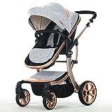 european hot mom stroller luxury baby stroller high landscape baby foldable stroller cochecitos de bebe poussette jumeaux