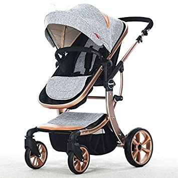 Amazon.com : european hot mom stroller luxury baby stroller high landscape baby foldable stroller cochecitos de bebe poussette jumeaux : Baby