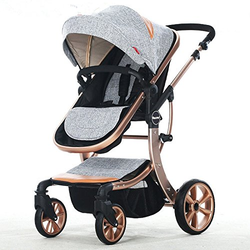 european hot mom stroller luxury baby stroller high landscape baby foldable stroller cochecitos de bebe poussette jumeaux