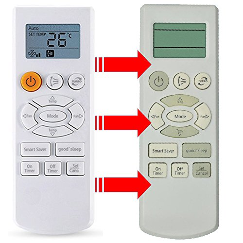 Generic Replacement Air Conditioner Remote Control for Samsung Db93-07073a Db93-08808b Db93-07073b ...