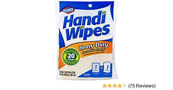 Amazon.com: Clorox Handi Wipes Heavy Duty Reusable Cloths, 3 Count: Prime Pantry
