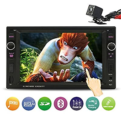 Double Din Car Stereo, 6.2 Inch Touch Screen - Rear View Camera/Bluetooth/Steering Wheel Control by Xshop