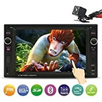 Double Din Car Stereo, 6.2 Inch Touch Screen - Rear View Camera/Bluetooth/Steering Wheel Control