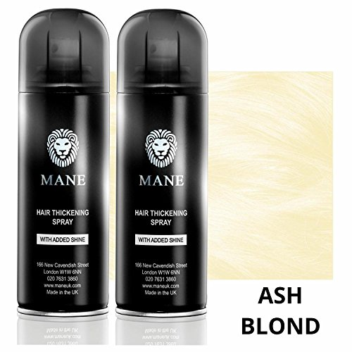 Mane Coloured Hair Thickening Spray ASH BLOND 200ml x 2 aerosols by Mane by Mane