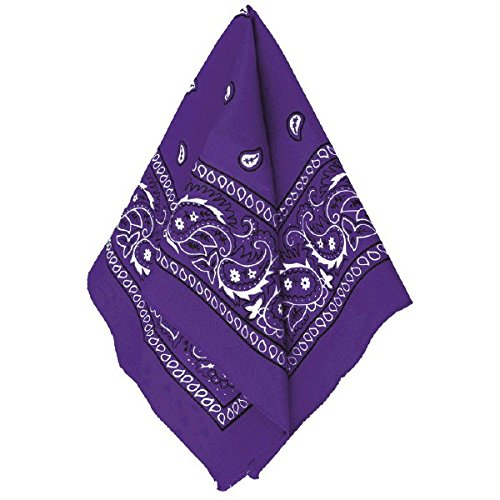 Party Ready Team Spirit Bandana Accessory, Purple, Fabric , 20