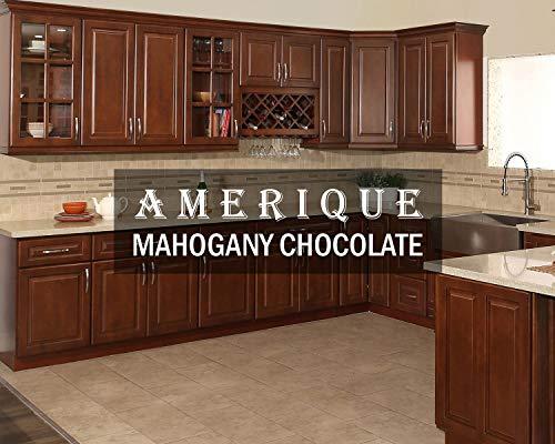 AMERIQUE 691322309317 Luxury Mahogany Chocolate Vanity Cabinet 36