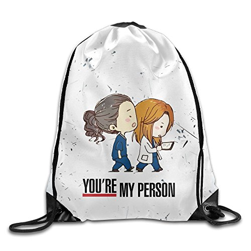 Grey Anatomy You're My Person Belt Sports Backpack,Fashion Trend, Polyester Sports Bag,Net Red Part,Men's Handbag,Ladies,Teenager,Adult,Outdoor Work,Office,Lunch Box