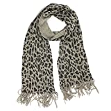 Croft & Barrow Sparkling Leopard Print Scarf for Women (Gray)