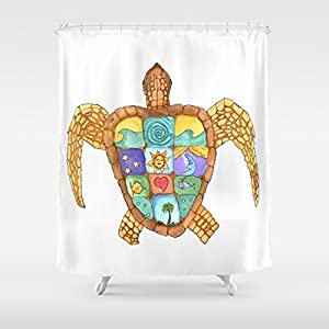 51iqLNwuYIL._SS300_ 200+ Beach Shower Curtains and Nautical Shower Curtains