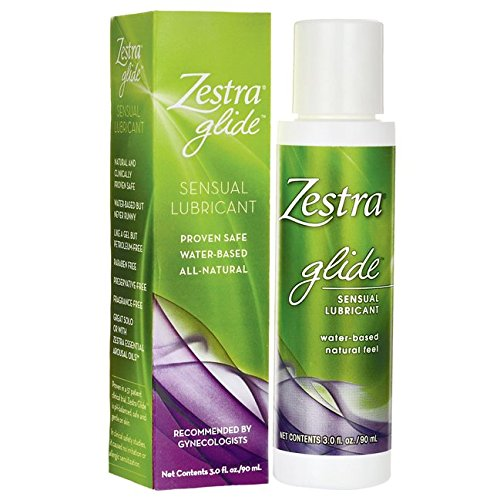 Zestra Glide | water-based gel lubricant, no petroleum, aloe, vitamin E, 3 ounce bottle