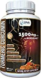 DNA Shift® 1500MG Turmeric Curcumin with BioPerine® NATURAL anti-inflammatory best for inflammation, joint pain and aching hands