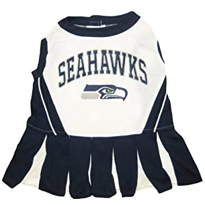 Seattle Seahawks NFL Cheerleader Dress For Dogs - Size Medium