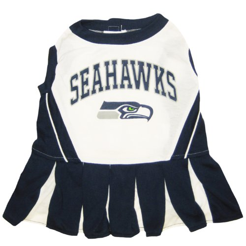Pets First Seattle Seahawks NFL Cheerleader Dress For Dog...