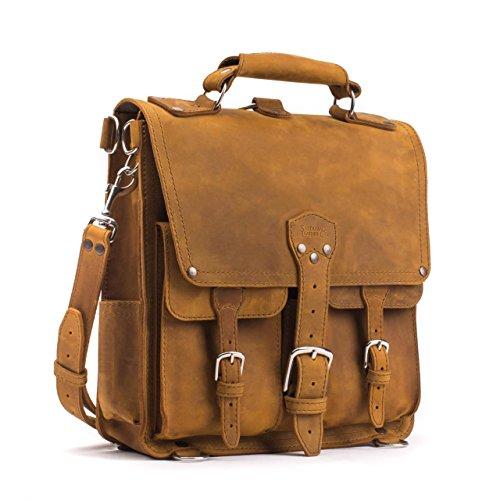 Saddleback Leather Front Pocket Messenger Bag - 100% Full Grain Leather Backpack Bag with 100 Year Warranty by Saddleback Leather Co.