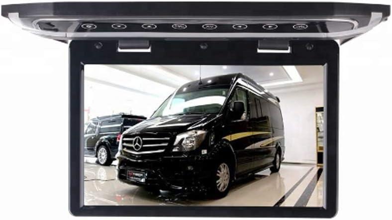 RBTT Monitor de TV para automóvil con lámpara de Techo Pantalla Grande TFT de 15.6 Pulgadas HD 1080P Adecuado para USB HDMI SD FM Se Puede conectar al Disco Duro de DVD