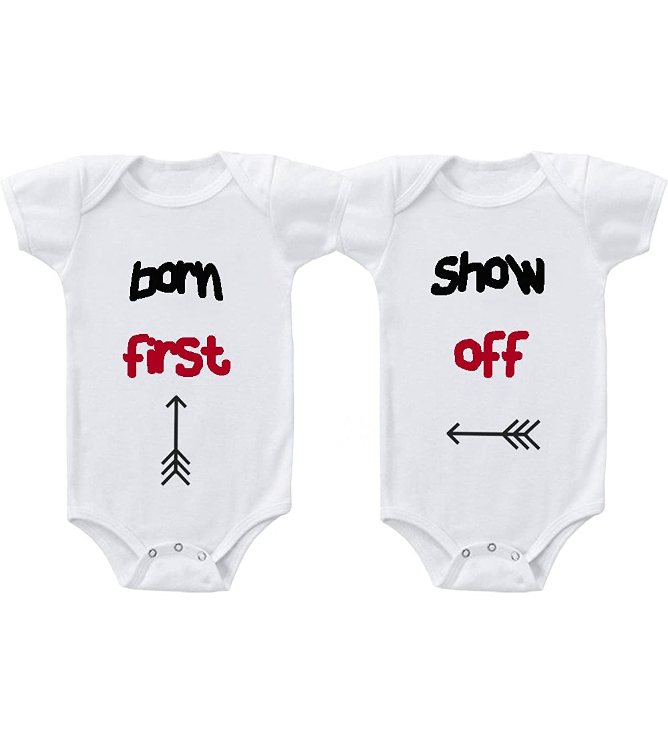 Amazon Born First Show f 2 Twins Infant Short Sleeve Baby