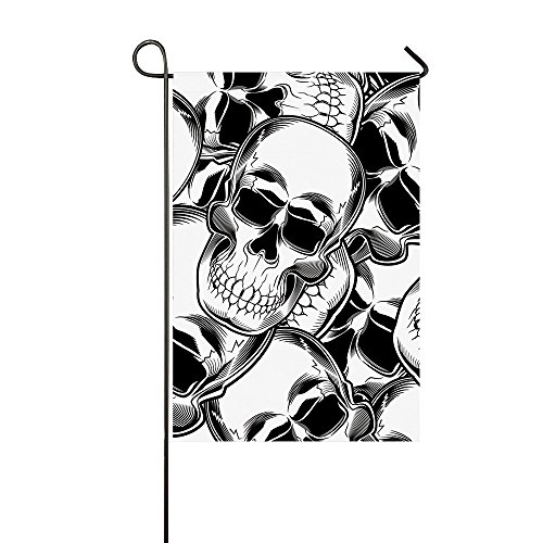 Fantasy Star Skull Garden Flag Indoor Outdoor Halloween Them